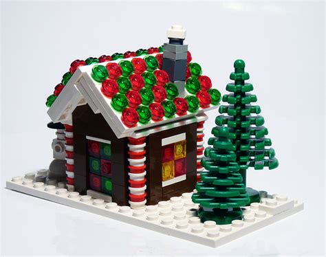Lego Gingerbread Houses