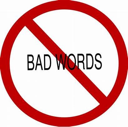 Words Clip Bad Clipart Word Say Profanity