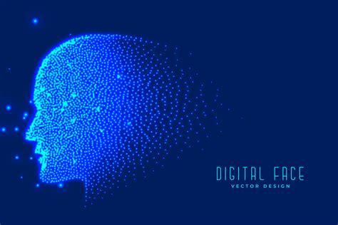 digital technology face   particles  artificial