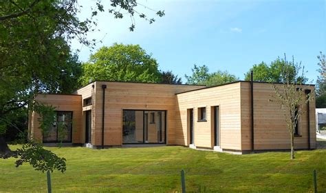 maison ossature bois contemporaine toit plat prix sur 233 l 233 vation ou rehausse maison ossature bois boismaison