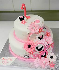 1St Birthday Minnie Mouse Inspired Cake - CakeCentral.com