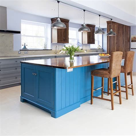 Small Kitchen Design In Yellow Blue Shades by Kitchen Trends Shades Of Blue Ideal Home
