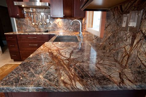 brown marble countertops rainforest brown granite installation englewood nj