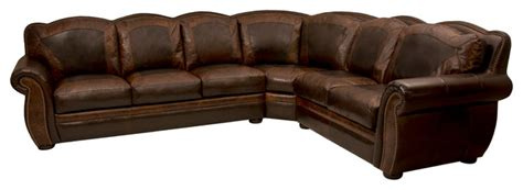 Rustic Sectional Sofa by Western Themed Leather Sectional Rustic Living Room