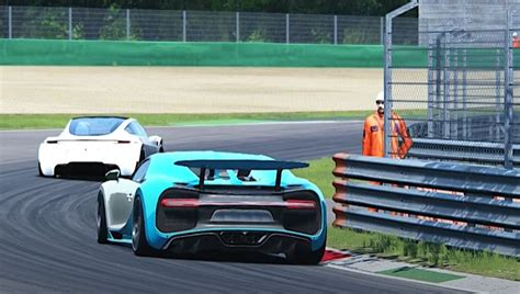Bugatti owes its distinctive character to a family of artists and engineers, and has always strived to offer the extraordinary, the unrivaled, the best. Watch Tesla Roadster vs Bugatti Chiron in Monza | CGI video - ev News Topic