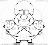 Holding Granny Twin Babies Happy Clipart Illustration Royalty Vector Cory Thoman sketch template