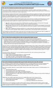 English Learner Instruction    Reading Foundation Skills