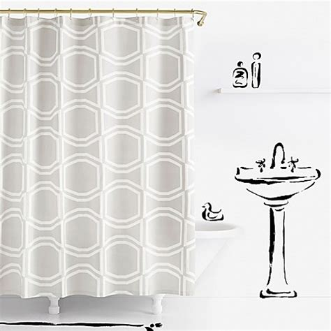 kate spade shower curtain kate spade new york bow tile shower curtain in platinum