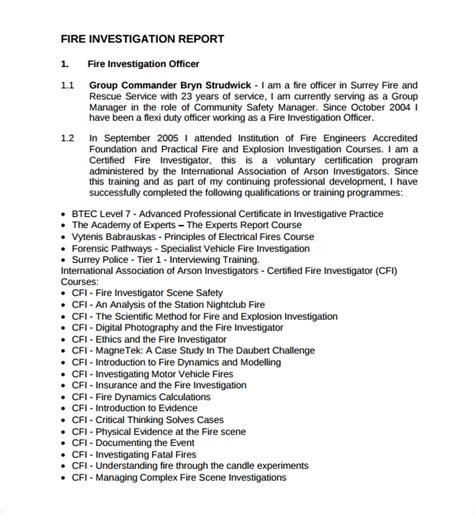 investigation report templates  google docs