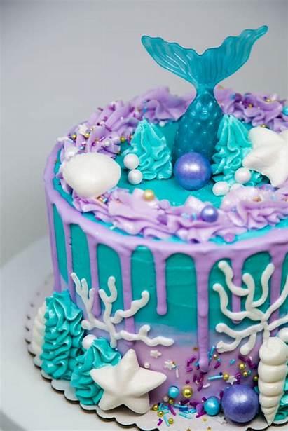 Mermaid Cakes Bakery Decorated Buttercream Custom Scaled