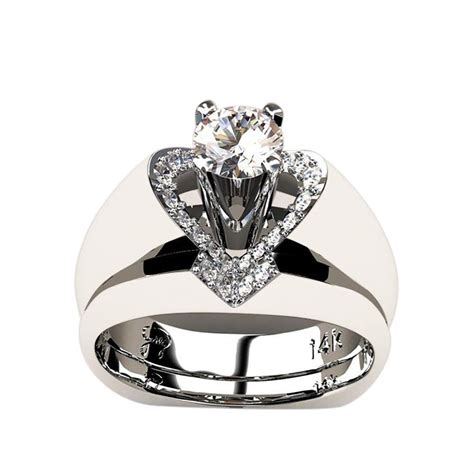 clearance sale 2 pieces rings for jiayit shiny white sapphire
