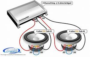 Diagram  How Should I Wire These Subs With This Amp