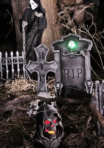 spooky nights graveyard scene