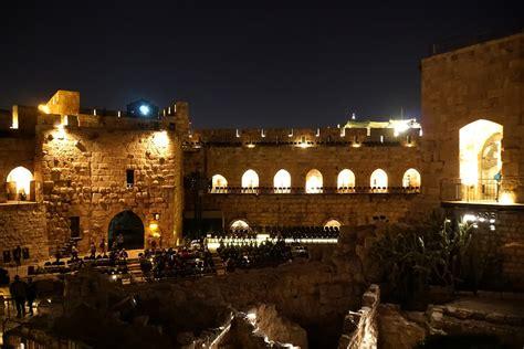 tower david night jerusalem shows jarvis dennis map
