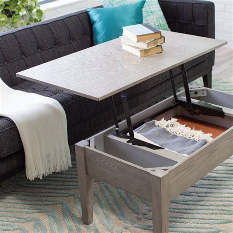 turner lift top coffee table gray coffee tables at