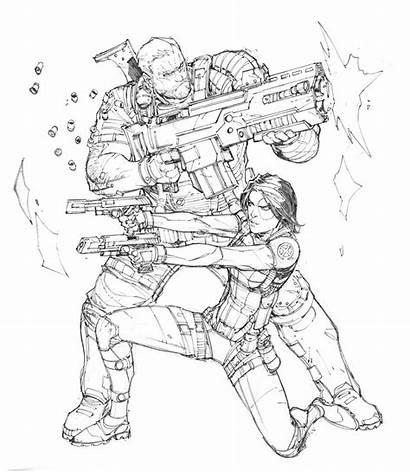 Cable Domino Dunbar Max Deviantart Comic Marvel