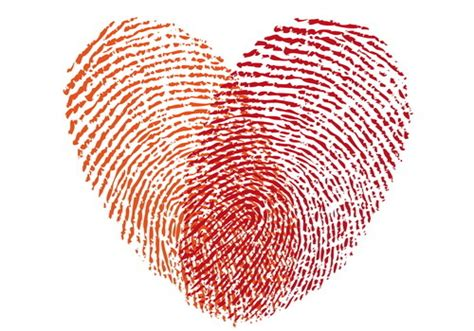 fingerprint  hearts vector vector background