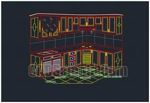 Kitchen cabinets cad drawings dwg cadsamplecom for Kitchen furniture blocks