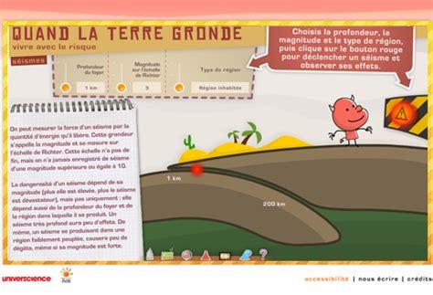 Quand La Terre Gronde Jeu Flash by Les S 233 Ismes Simulation Flash Quand La Terre Gronde