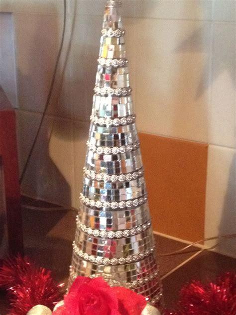 mosaic christmas tree mirror christmas crafts pinterest