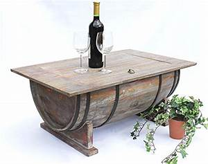 Fass Als Tisch : dandibo couchtisch halbiertes weinfass tisch holz beistelltisch 80 cm ~ Sanjose-hotels-ca.com Haus und Dekorationen