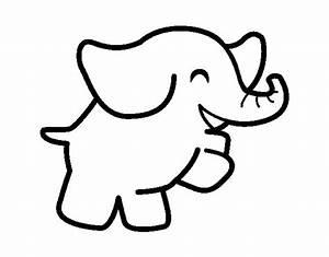 Imagenes Tiernas De Elefantes Para Colorear Imagui