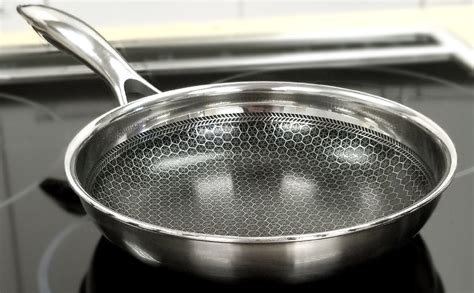 amazoncom black cube hybrid stainless steel frying pan  nonstick coating oven safe