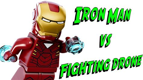 lego iron man  fighting drone  marvel super heroes avengers review brickqueen youtube