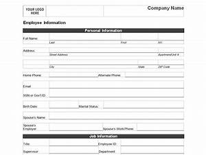 free printable employee personal information form for new With new employee information template