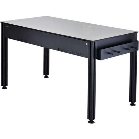 lian li dk q2x aluminum computer desk lian li dk 03 aluminum computer desk black dk 03x b h photo