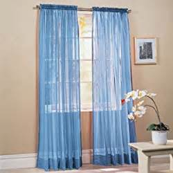 amazon com 2 piece solid sky blue sheer window curtains