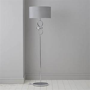 Hadwick twisted chrome effect floor lamp departments for Pallas chrome floor lamp