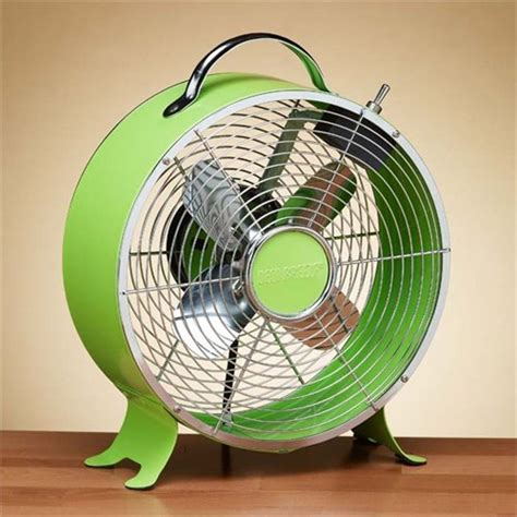 vintage style desk fan introduce a pop of color with this vintage style metal