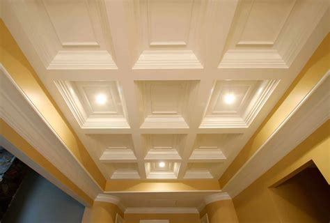Simple Coffered Ceiling by Coffered Ceiling System Easy Ceiling Panel Treatments