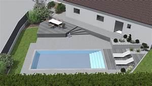 avant apres creer une piscine dans un petit jardin With amenagement petit jardin avec terrasse et piscine 1 avant apras creer une piscine dans un petit jardin