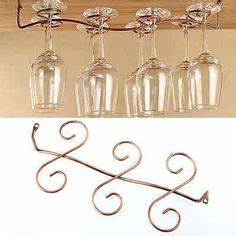 diy wine glass rack this would3939ve been damn handy to With kitchen cabinets lowes with glass hanging candle holders