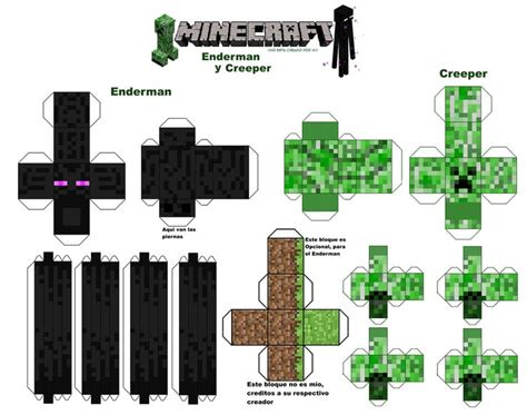 Creeper/ Ender Man/ Grass Block
