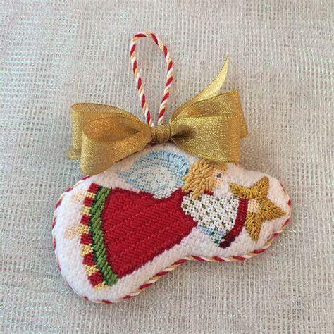 angel ornament finishing needlepoint christmas vintage