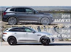 2018 BMW X3 vs 2018 Jaguar FPace technical comparison
