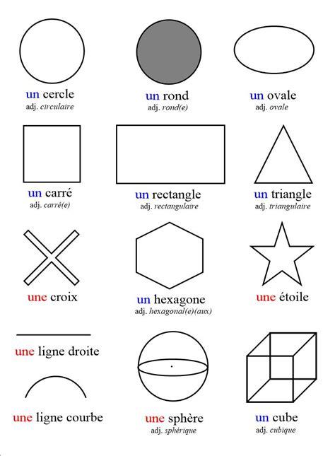 formes geometriques en anglais formes et figures g 233 om 233 triques