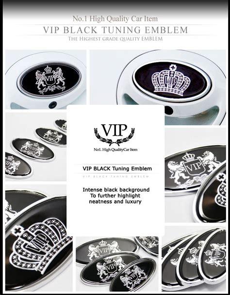 New Luxury Car Vip Emblems Sticker Crown Logo Hood Trunk