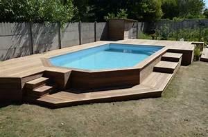 Terrasse Piscine Hors Sol : terrasse en bois autour d 39 une piscine deco pinterest ~ Dailycaller-alerts.com Idées de Décoration