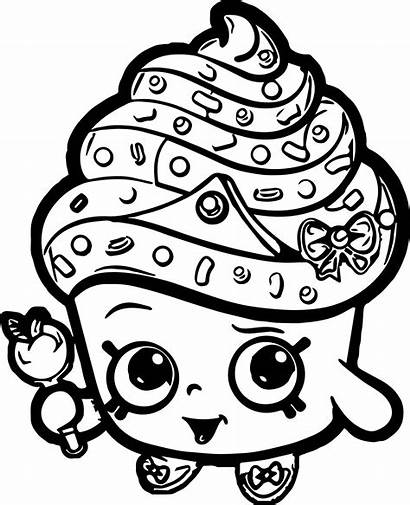 Shopkins Coloring Pages Colouring Cupcake Queen Printable