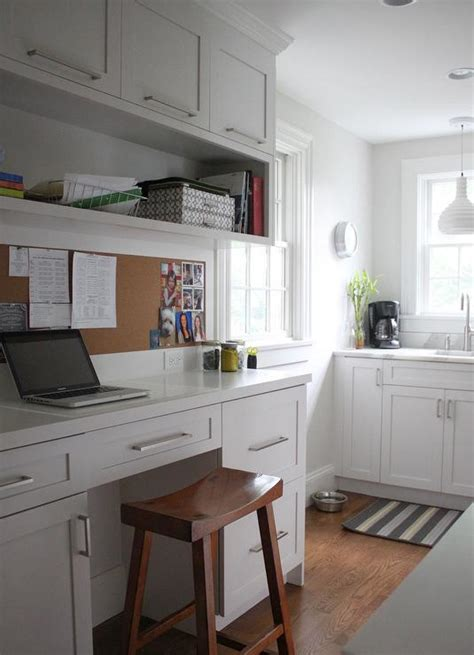 Kitchen Desk Backsplash Ideas by Built In Kitchen Desk Design Ideas