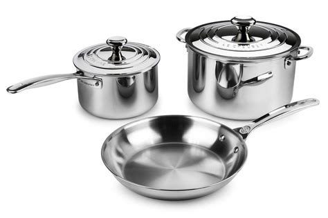 le creuset stainless steel cookware set  piece cutlery