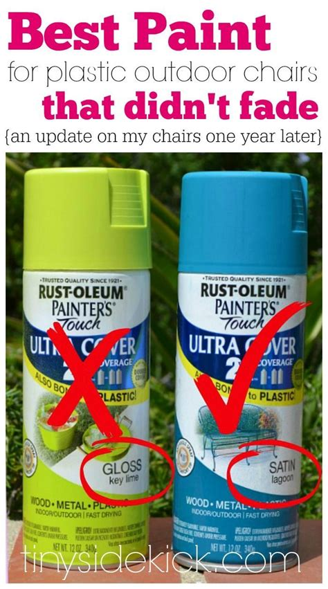 1 Year Later Spray Painted Plastic Outdoor Chairs Paint