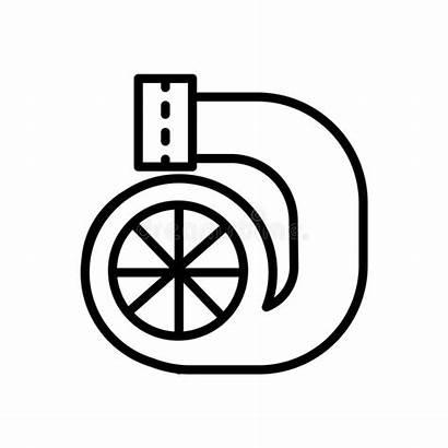 Turbo Outline Icon Zeichen Elements Neon Icona