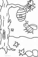 Bee Bumble Coloring Printable Honey Drawing Cool2bkids Bees Busy Clipart Outline Colouring Hive Activities Boyama Arı Yellow Getdrawings Library Bunch sketch template