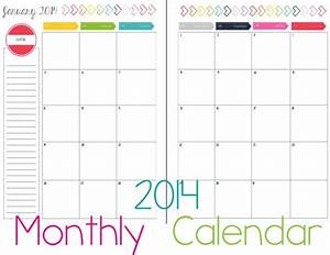 8 best images of 2 page monthly calendar printable 2016 With 2 month calendar template 2014