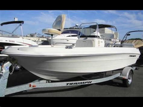Triumph Boats Youtube by Triumph 190 Bay Center Console With 115 Yamaha Youtube